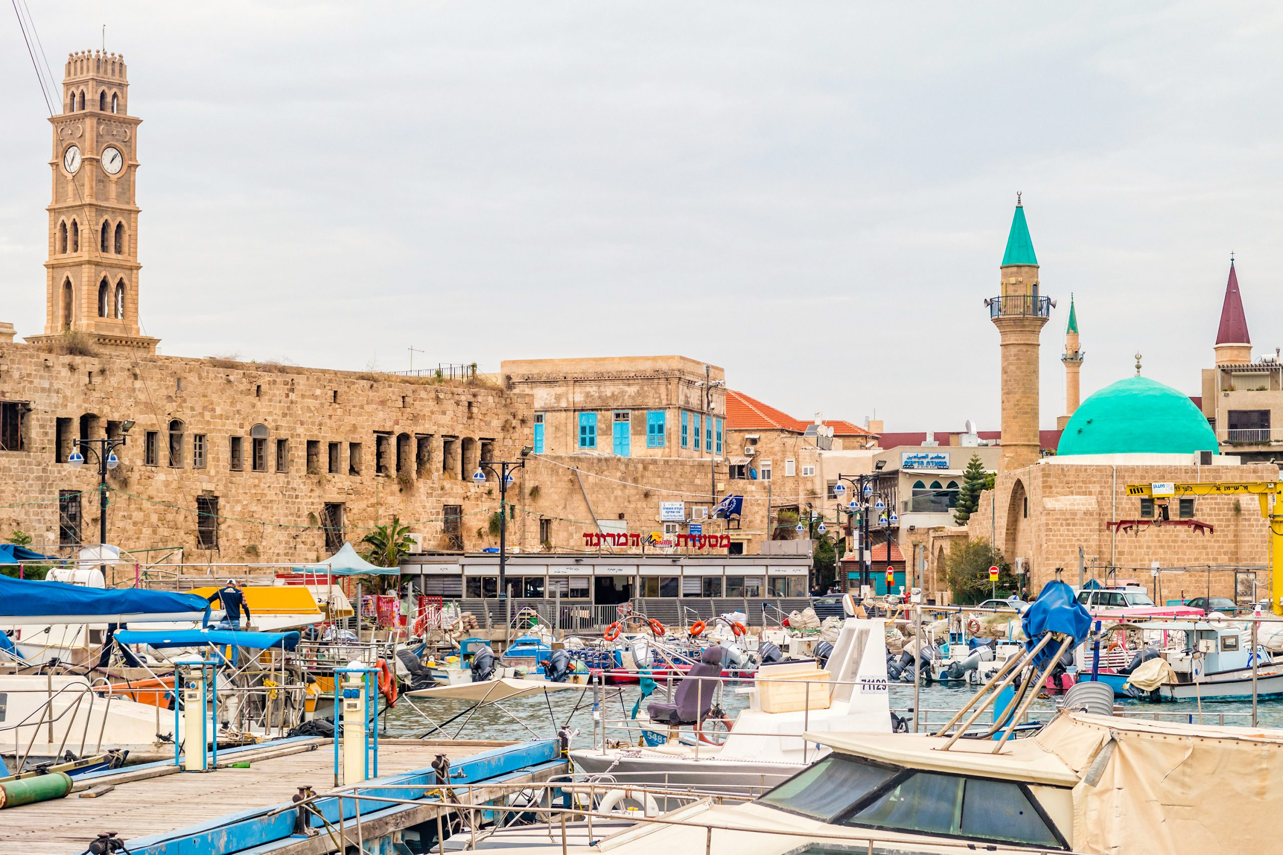 The Marina and the Old City of Akko, Israel
