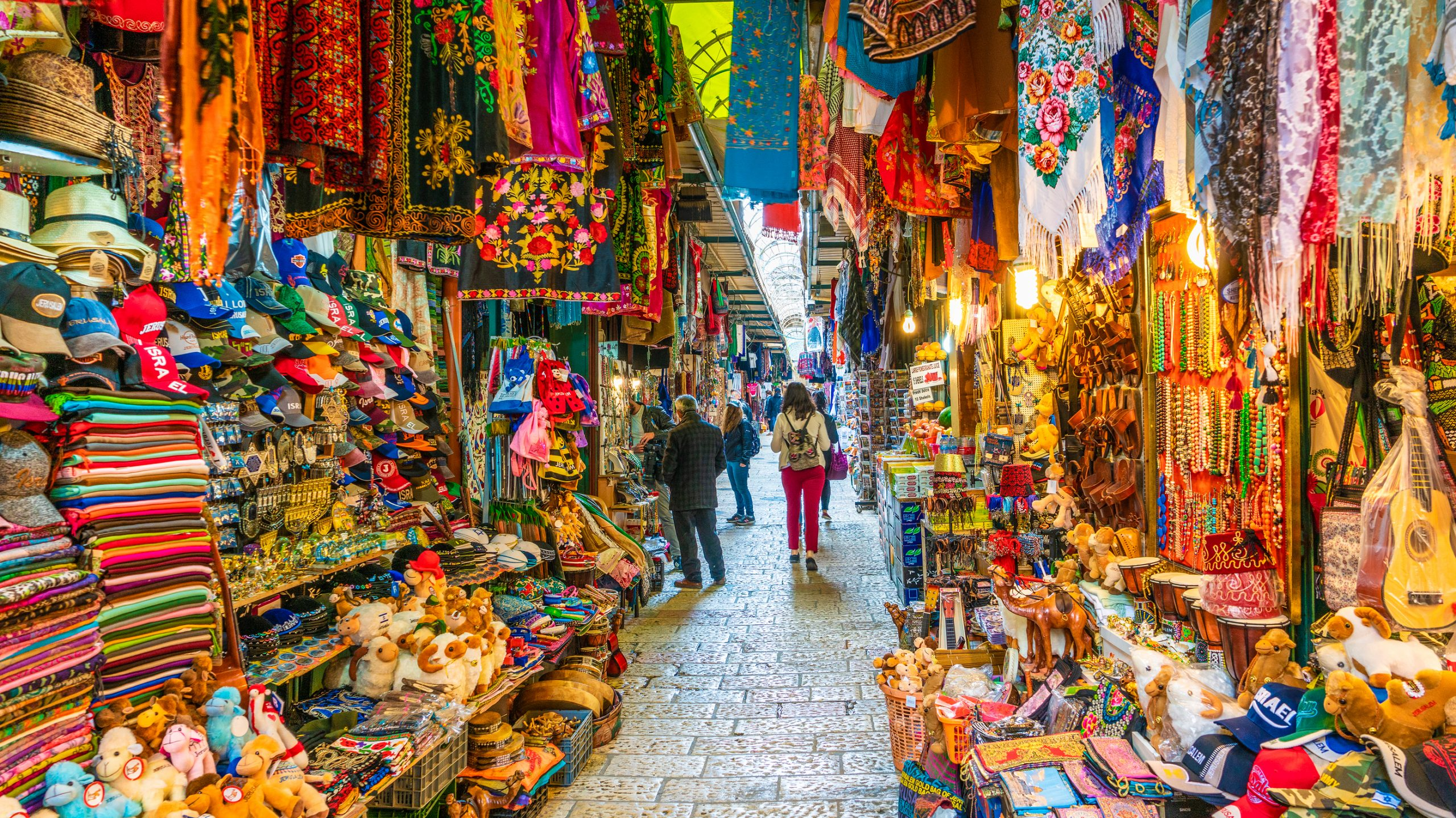 The market in the old city of Jerusalem, Israel