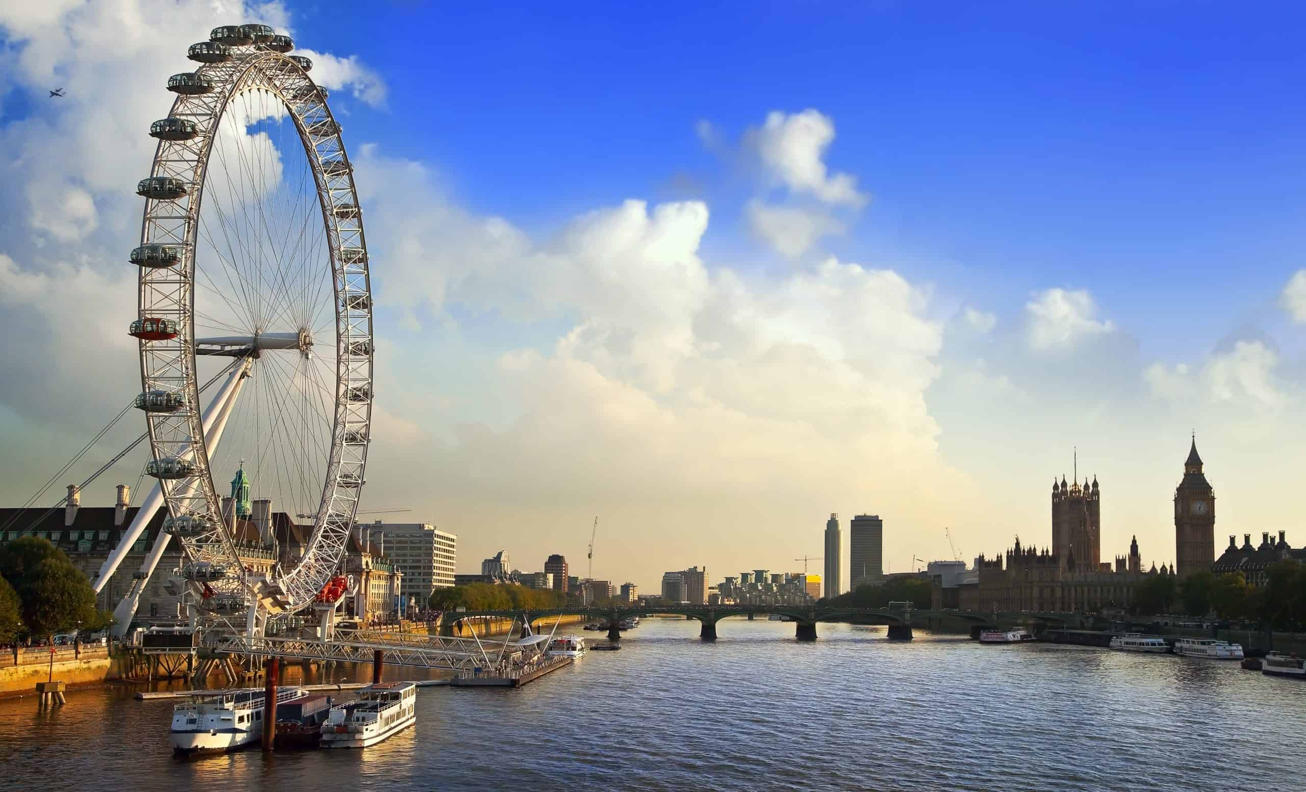 London Eye on the Thames river - fun things to do in london and romantic things to do in london