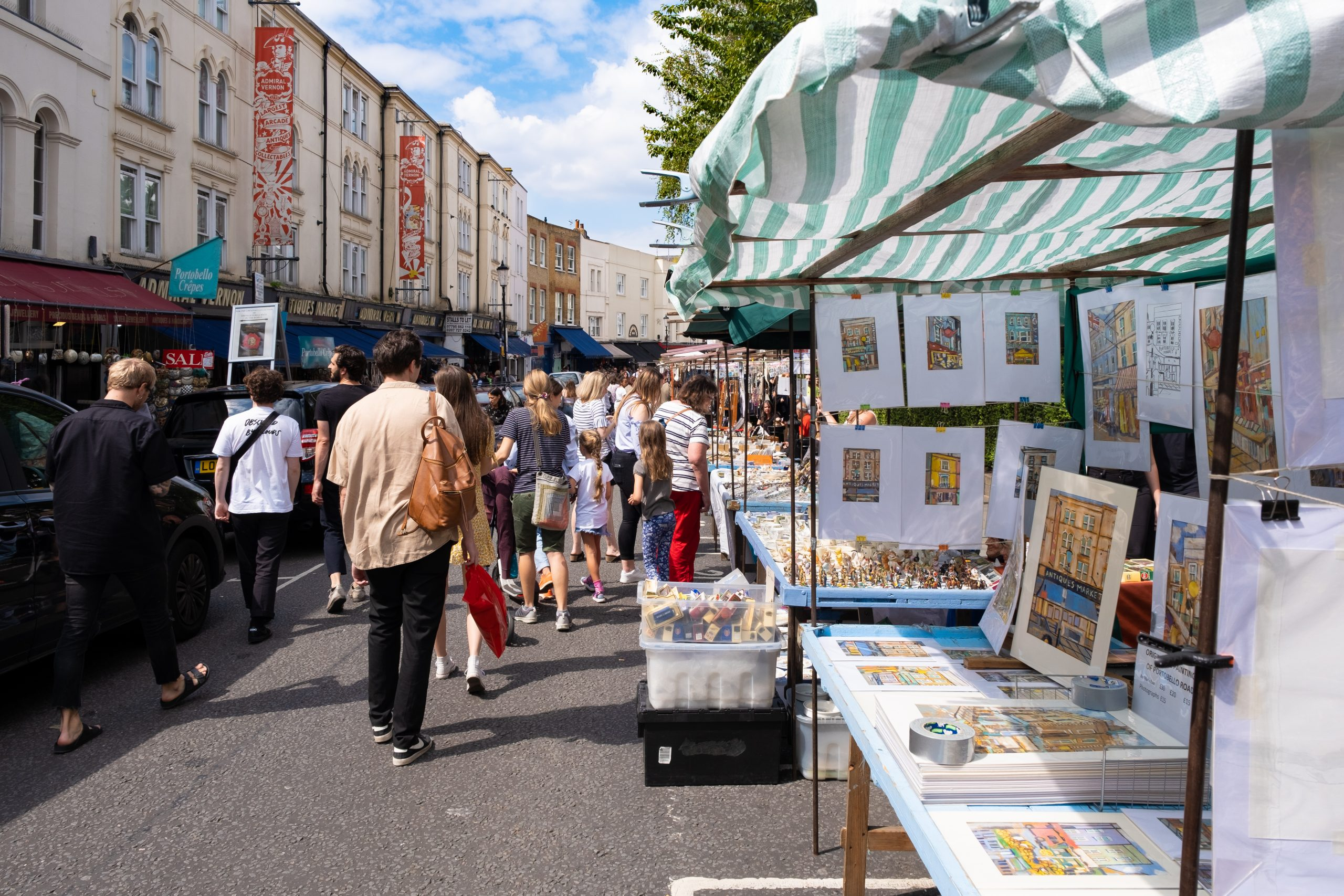 Portobello Market in Noting Hill - what to do london? sights to see london