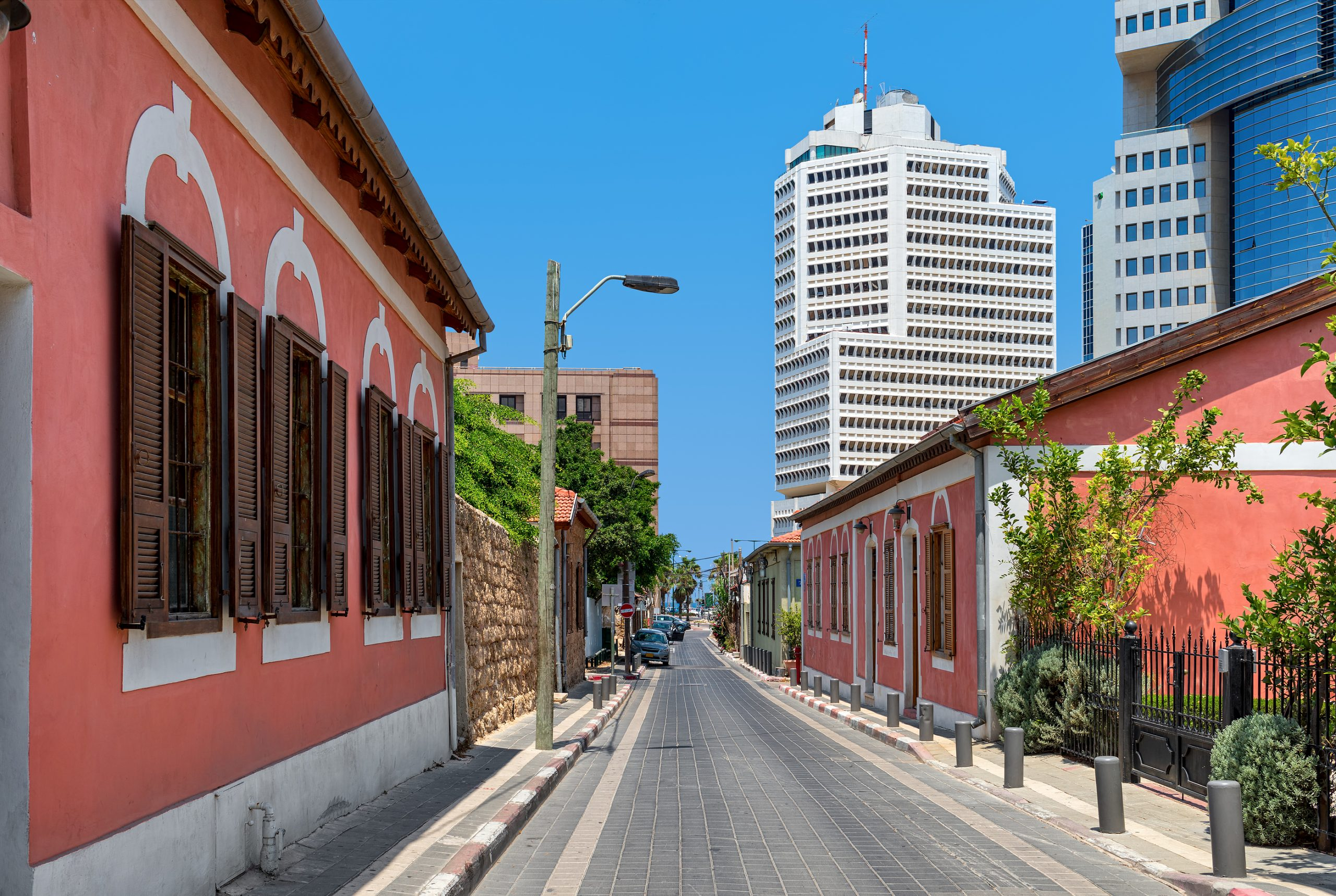 Old and colorful houses of Neve Tzedek - one of the best tel aviv activities, tel aviv to do, tel aviv street