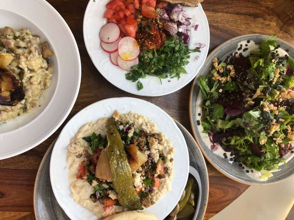 Vegan food in Tel Aviv. Picture from Michelangelo Cafe