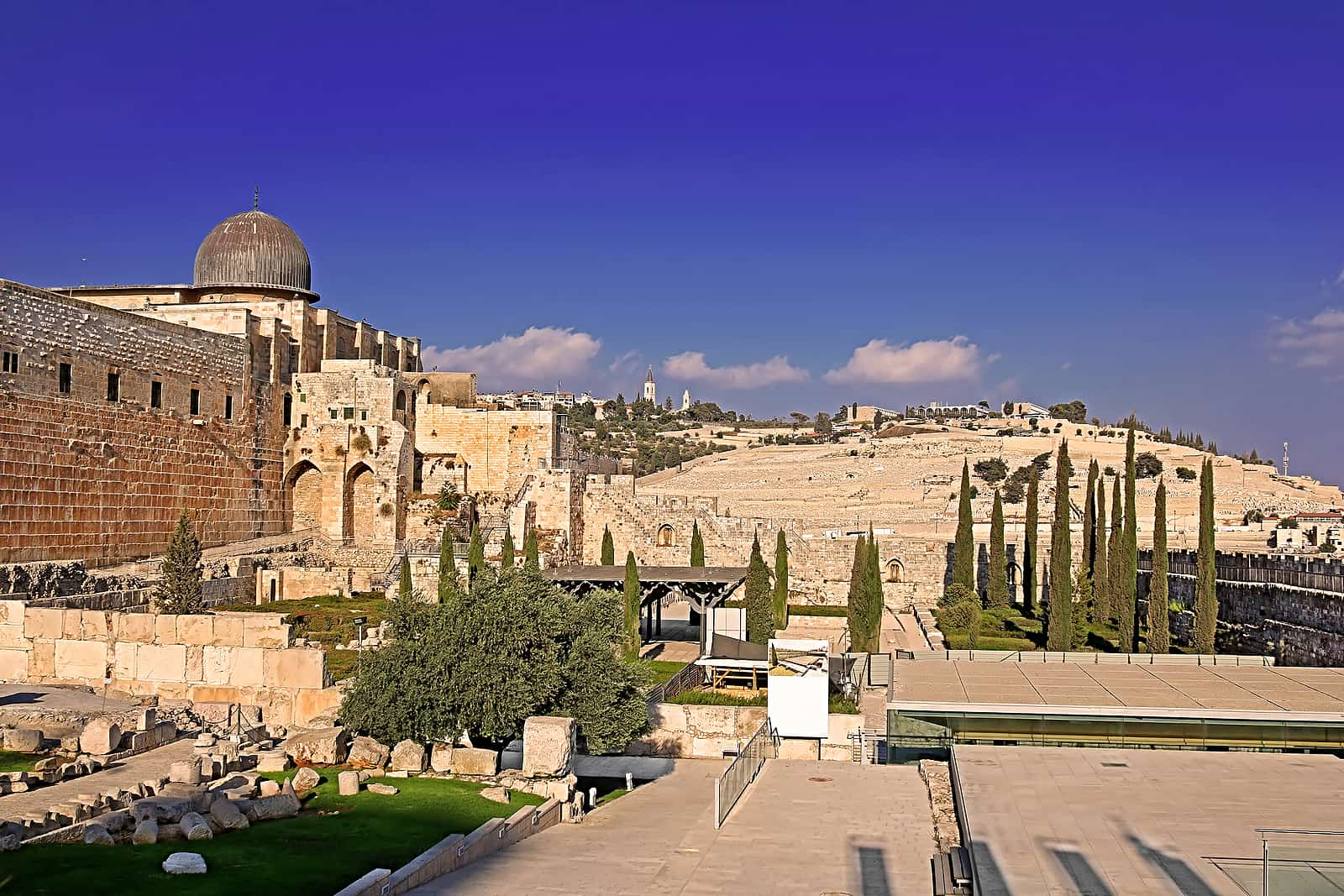 The Archaeological Park - Davidson Center in the old city of Jerusalem