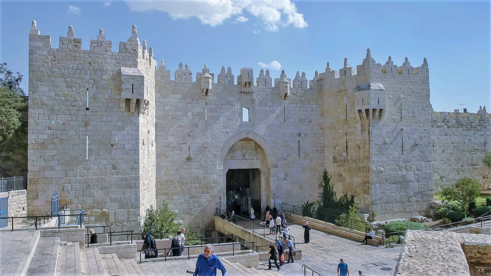 Damascus Gate in the old city in Jerusalem