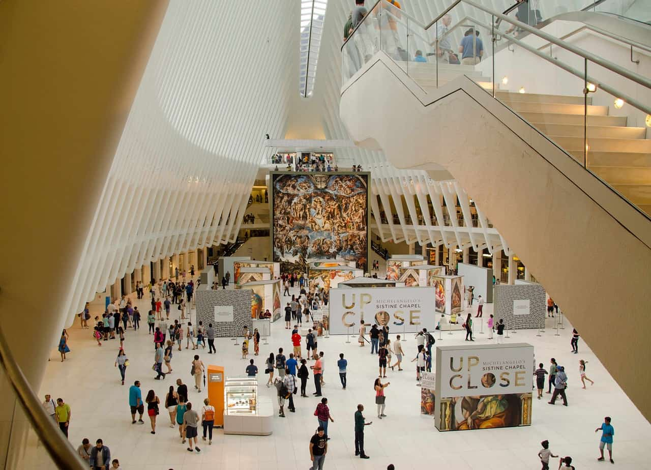 The Oculus - underground shopping mall in New York City